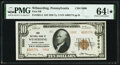 National Bank Notes:Pennsylvania, Wilmerding, PA - $10 1929 Ty. 2 The East Pittsburgh National Bank Ch. # 5000 PMG Choice Uncirculated 64 EPQ*.. ...