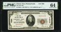 National Bank Notes:Pennsylvania, Cherry Tree, PA - $20 1929 Ty. 1 The First National Bank Ch. # 7000 PMG Choice Uncirculated 64.. ...