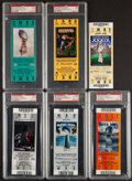 Football Collectibles:Tickets, 2002-2009 Super Bowl Full Tickets, Lot of 6.... (Total: 5 items)