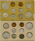 Mint Sets, 1957 SET Double Mint Set, Uncertified. Includes two examples of each denomination from the Philadelphia and Denver min... (Total: 20 coins)