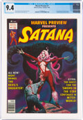 Magazines:Horror, Marvel Preview #7 Satana (Marvel, 1976) CGC NM 9.4 Off-white to white pages....