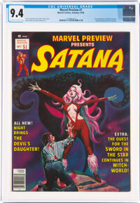 Marvel Preview #7 Satana (Marvel, 1976) CGC NM 9.4 Off-white to white pages
