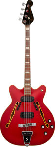 Musical Instruments:Bass Guitars, 1967 Fender Coronado II Red Electric Bass Guitar.. ...