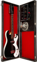 Musical Instruments:Electric Guitars, circa 1964 Silvertone 1448 Amp-in-Case Black Solid Body Electric Guitar, Serial #18510010.. ...
