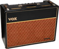 Musical Instruments:Amplifiers, PA, & Effects, circa 1963 Vox AC-30 Black Guitar Amplifier, Serial #5937.. ...