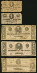 Confederate Notes:1863 Issues, Confederate Notes 1863-64.. ... (Total: 10 notes)