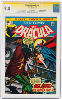 Tomb of Dracula #10 (Marvel, 1973) CGC Signature Series Signed by Stan Lee NM/MT 9.8 White pages