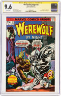 Bronze Age (1970-1979):Horror, Werewolf by Night #32 Signature Series - Stan Lee (Marvel, 1975) CGC NM+ 9.6 Off-white pages....