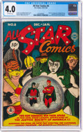 Golden Age (1938-1955):Superhero, All Star Comics #8 (DC, 1942) CGC VG 4.0 Off-white pages....