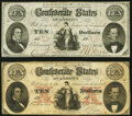 T25 $10 1861 PF-2 Cr. 169 Fine-Very Fine; T26 $10 1861PF-2 Cr. 213 Fine-Very Fine. ... (Total: 2 notes)