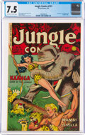 Golden Age (1938-1955):Miscellaneous, Jungle Comics #151 (Fiction House, 1952) CGC VF- 7.5 Off-white to white pages....