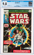 Bronze Age (1970-1979):Superhero, Star Wars #1 (Marvel, 1977) CGC NM/MT 9.8 White pages....