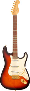 Musical Instruments:Electric Guitars, 1996 Fender Stratocaster Sunburst Solid Body Electric Guitar, Serial #S0477.. ...