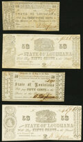 Obsoletes By State:Louisiana, Shreveport, LA-State of Louisiana 25¢ March 1, 1864 Cr. 22 Very Fine-Extremely Fine;. Shreveport, LA-State of Louisian...