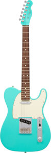 Musical Instruments:Electric Guitars, 2016 Fender Telecaster Turquoise Solid Body Electric Guitar, Serial #US16025278.. ...