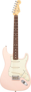Musical Instruments:Electric Guitars, 2013 Fender Stratocaster Shell Pink Solid Body Electric Guitar, Serial #US13033023.. ...