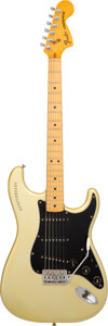 Musical Instruments:Electric Guitars, 1979 Fender Anniversary Stratocaster Silver Solid Body Electric Guitar, Serial #253966.. ...
