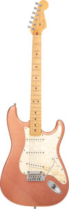 Musical Instruments:Electric Guitars, 1996 Fender American Classic Stratocaster Pink Sparkle Solid Body Electric Guitar, Serial #CN507851.. ...