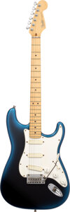 Musical Instruments:Electric Guitars, 1993 Fender Stratocaster Blueburst Solid Body Electric Guitar, Serial #N3158686.. ...