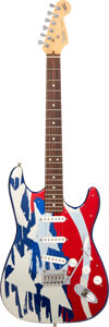 Musical Instruments:Electric Guitars, 1994 Fender Stratocaster Red, White & Blue Aluminum Solid Body Electric Guitar, Serial #N4162930.. ...