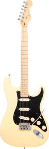 Musical Instruments:Electric Guitars, 2008 Fender Stratocaster Blonde Solid Body Electric Guitar, Serial #DZ8010521.. ...