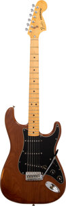 Musical Instruments:Electric Guitars, circa 1979 Fender Stratocaster Walnut Solid Body Electric Guitar, Serial #S933833.. ...