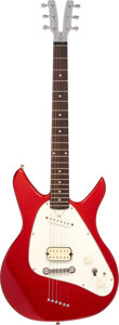 Musical Instruments:Electric Guitars, circa 2000 Vaccaro X-Ray Red Sparkle Solid Body Electric Guitar, Serial #V2 00039.. ...