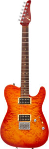 Musical Instruments:Electric Guitars, 2001 Tom Anderson Cobra Fireburst Solid Body Electric Guitar, Serial #9-10-01P.. ...