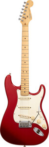 Musical Instruments:Electric Guitars, 1991 Fender Stratocaster Dakota Red Solid Body Electric Guitar, Serial #N1062354.. ...