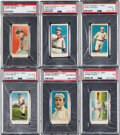 Baseball Cards:Lots, 1910 E105 Mello-Mint PSA-Graded Collection (6). ...