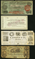 """New York State Advertising Notes. Camden- F. Fifield & Co. """"50"""" ND Vlack UNL Fine-Very Fine; New York- Col..."""
