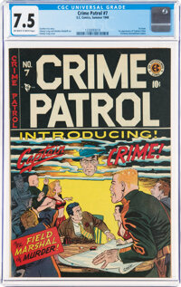 Crime Patrol #7 (EC, 1948) CGC VF- 7.5 Off-white to white pages