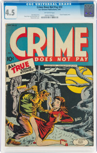Crime Does Not Pay #33 (Lev Gleason, 1944) CGC VG+ 4.5 Off-white pages