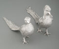 Silver & Vertu, A Pair of Sanborns Silver Pheasants, Mexico City, 20th century. Marks: (owl), SANBORNS, MEXICO, STERLING. 6-1/4 x 2-1/4 ... (Total: 2 )