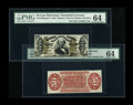 Fractional Currency:Third Issue, Fr. 1328SP 50c Third Issue Spinner Narrow Margin Pair PMG Choice Uncirculated 64....