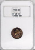 Proof Indian Cents, 1900 1C PR65 Red NGC....
