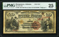 National Bank Notes:Alabama, Montgomery, AL - $20 1882 Brown Back Fr. 498 The First National Bank Ch. # (S)1814 PMG Very Fine 25.. ...
