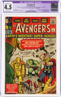 Silver Age (1956-1969):Superhero, The Avengers #1 Trimmed (Marvel, 1963) CGC Apparent VG+ 4.5 Slight to Moderate (C-2) Off-white pages....