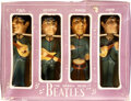 Music Memorabilia:Memorabilia, The Beatles Car Mascot Bobbin' Head Figures Set of Four in Box (Car Mascots, Inc., 1964). ...