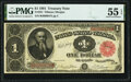 Large Size:Treasury Notes, Fr. 351 $1 1891 Treasury Note PMG About Uncirculated 55 EPQ.. ...