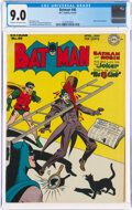 Golden Age (1938-1955):Superhero, Batman #40 (DC, 1947) CGC VF/NM 9.0 Cream to off-white pages....