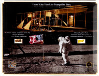 Apollo 11: From Kitty Hawk to Tranquility Base Flown Wright Brothers 1911 Model B Wing Fabric and Apollo 11 Kapton Foil...