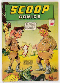 Scoop Comics #1 (Chesler, 1941) Condition: VG-