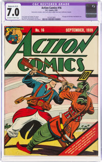 Action Comics #16 (DC, 1939) CGC Apparent FN/VF 7.0 Moderate (A-3) Off-white to white pages