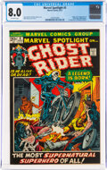 Bronze Age (1970-1979):Superhero, Marvel Spotlight #5 Ghost Rider (Marvel, 1972) CGC VF 8.0 Off-white pages....