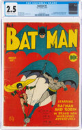 Golden Age (1938-1955):Superhero, Batman #6 (DC, 1941) CGC GD+ 2.5 Off-white to white pages....