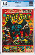 Golden Age (1938-1955):Science Fiction, Blue Bolt #110 (Star Publications, 1951) CGC FN- 5.5 Cream to off-white pages....