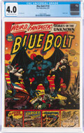 Golden Age (1938-1955):Science Fiction, Blue Bolt #110 (Star Publications, 1951) CGC VG 4.0 Cream to off-white pages....