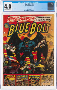Blue Bolt #110 (Star Publications, 1951) CGC VG 4.0 Cream to off-white pages