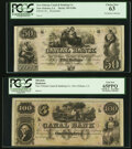 Obsoletes By State:Louisiana, New Orleans, LA- New Orleans Canal and Banking Company $50 18__Remainder PCGS Choice New 63;. New Orleans, LA- New Orl... (Total: 2 notes)